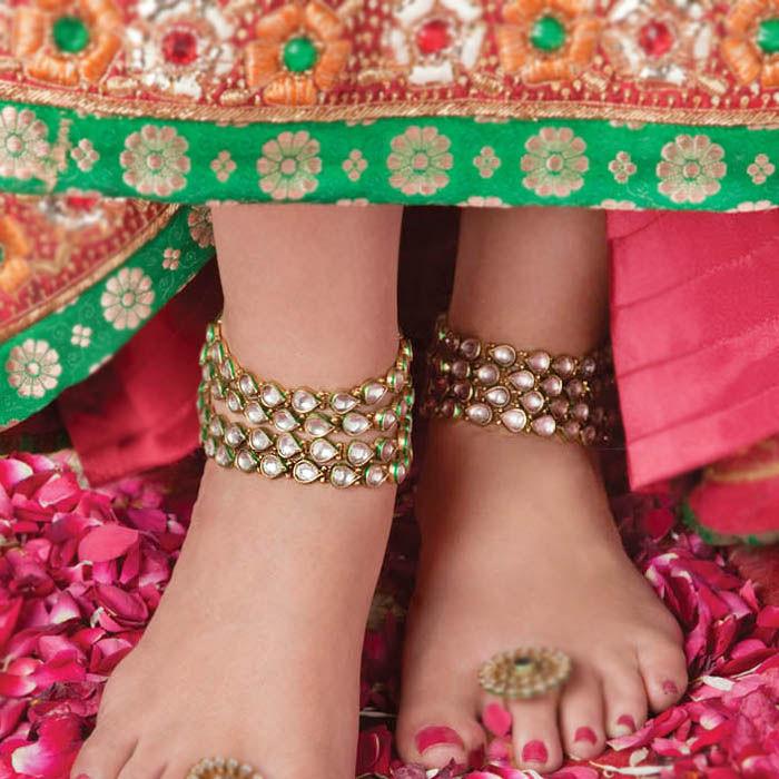 Индийские ножные браслеты своими руками 93