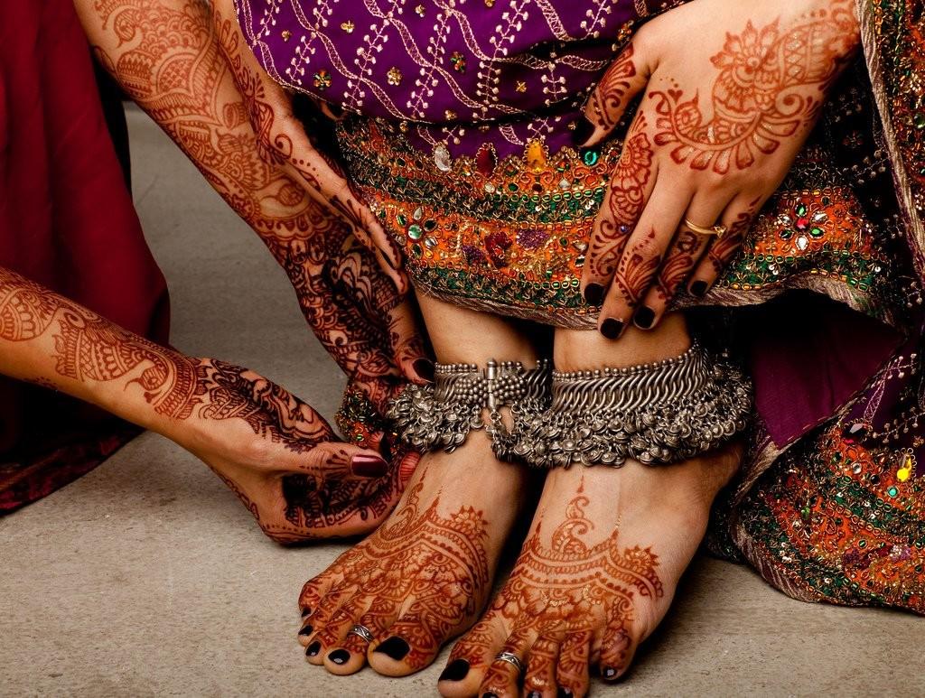 Индийские ножные браслеты своими руками 71