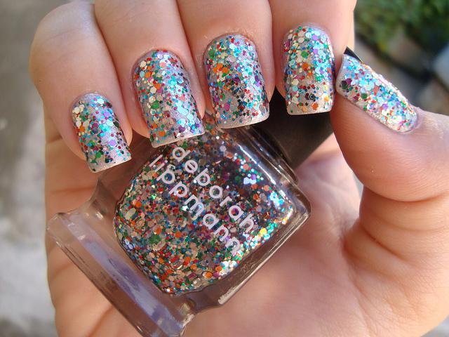 Как сделать блестки на ногти с гелем 680