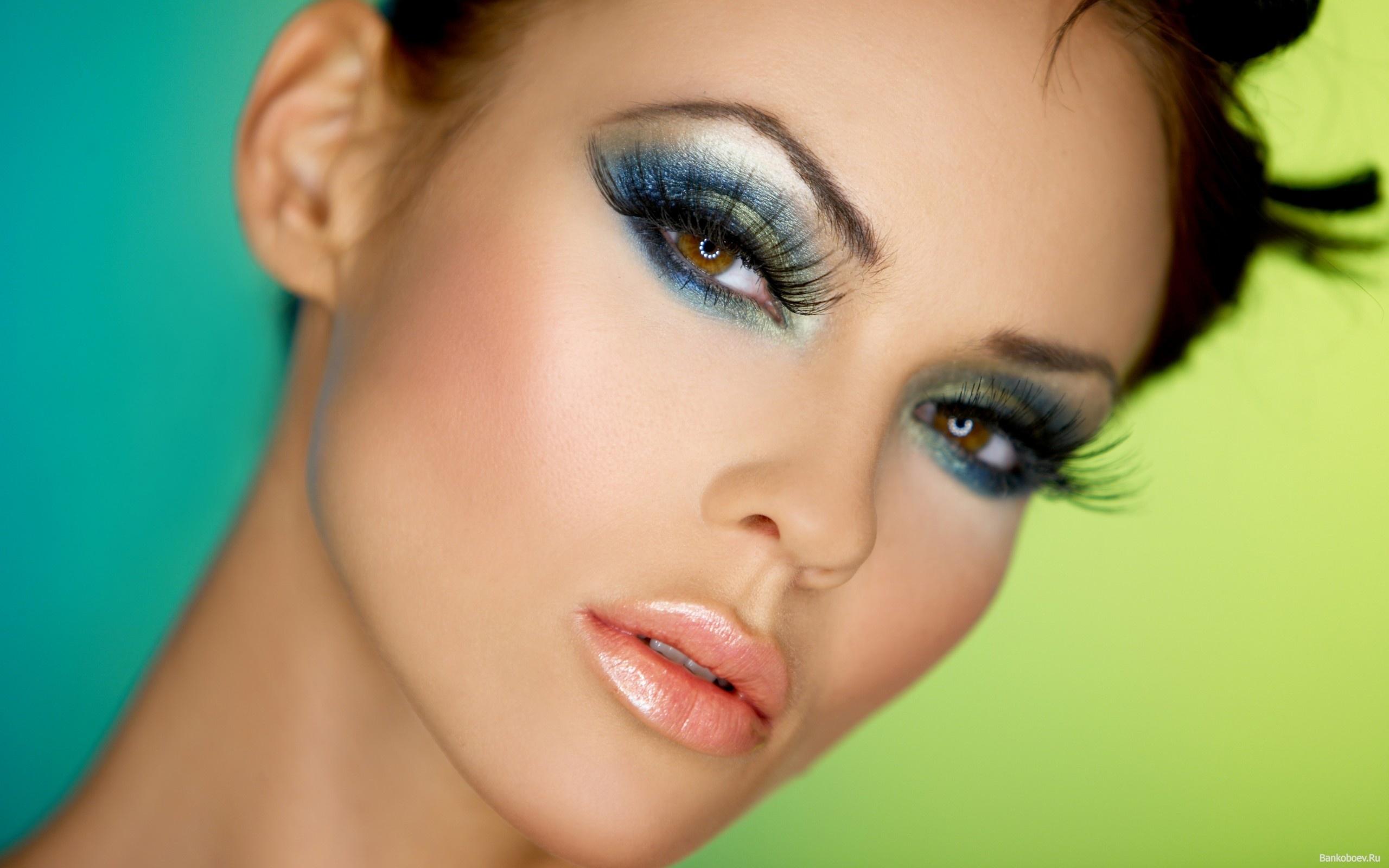 макияж с нарощенными ресницами