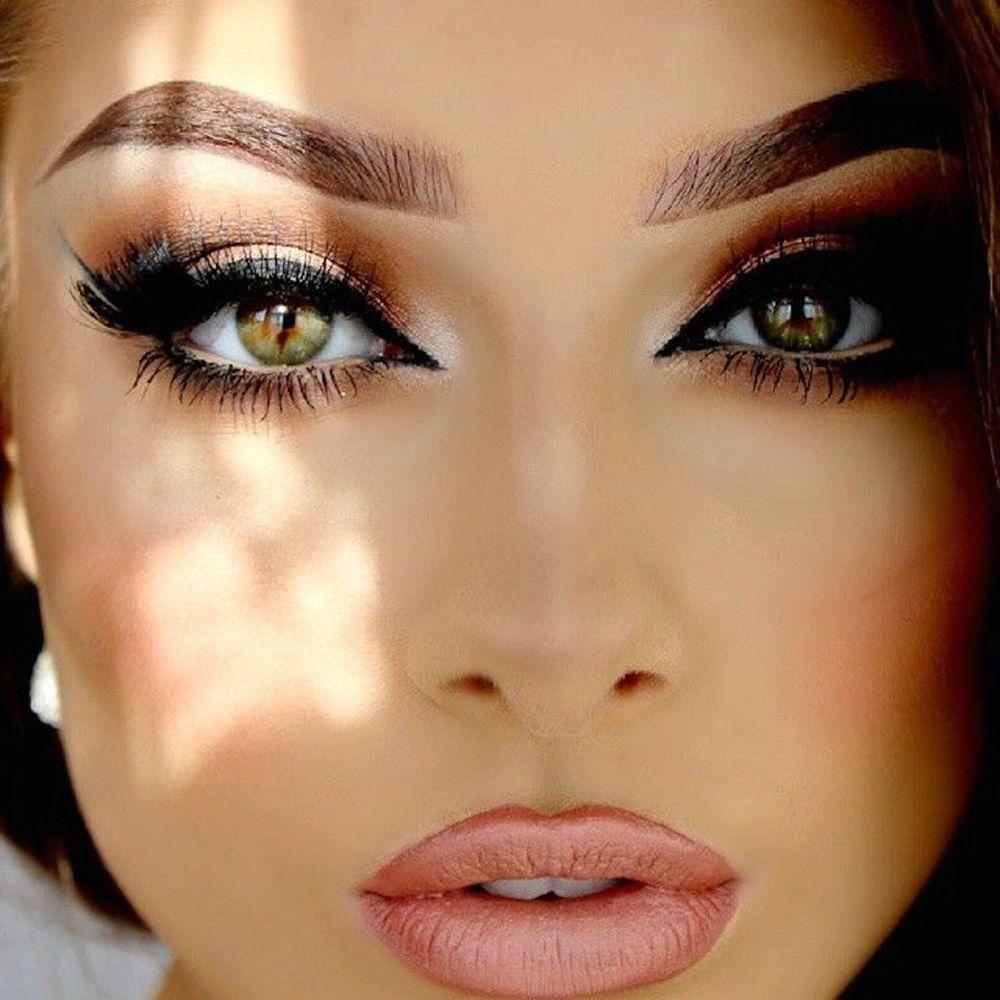 Красивый макияж с ресницами фото