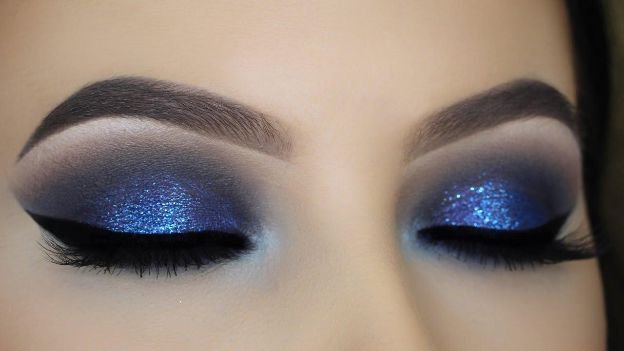 Smoky eyes в синих тонах