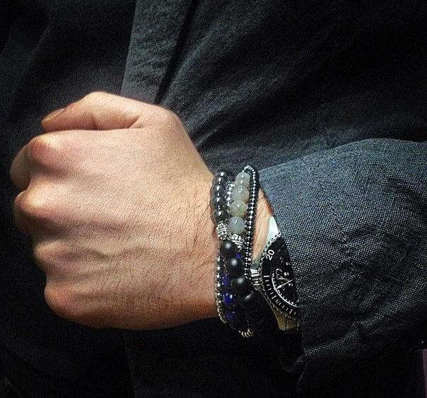 Браслет из камня на руку мужской своими руками