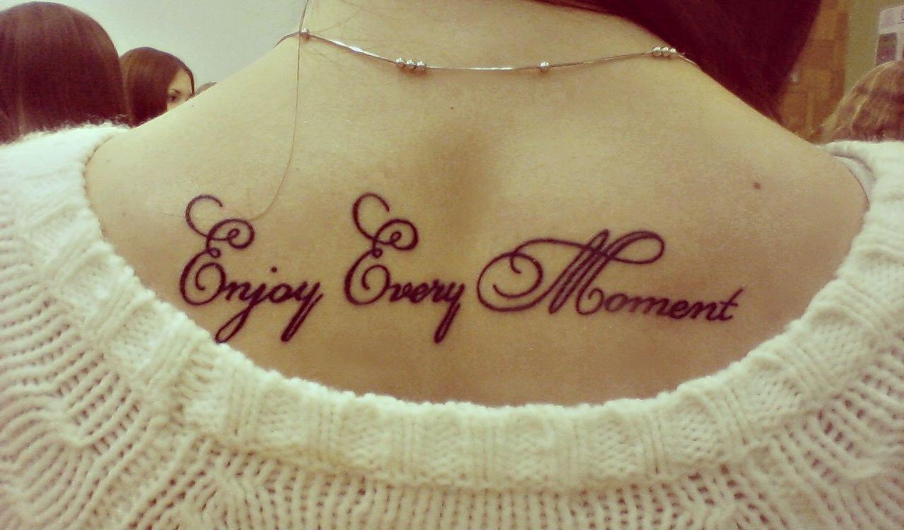 Красивые женские тату надписи