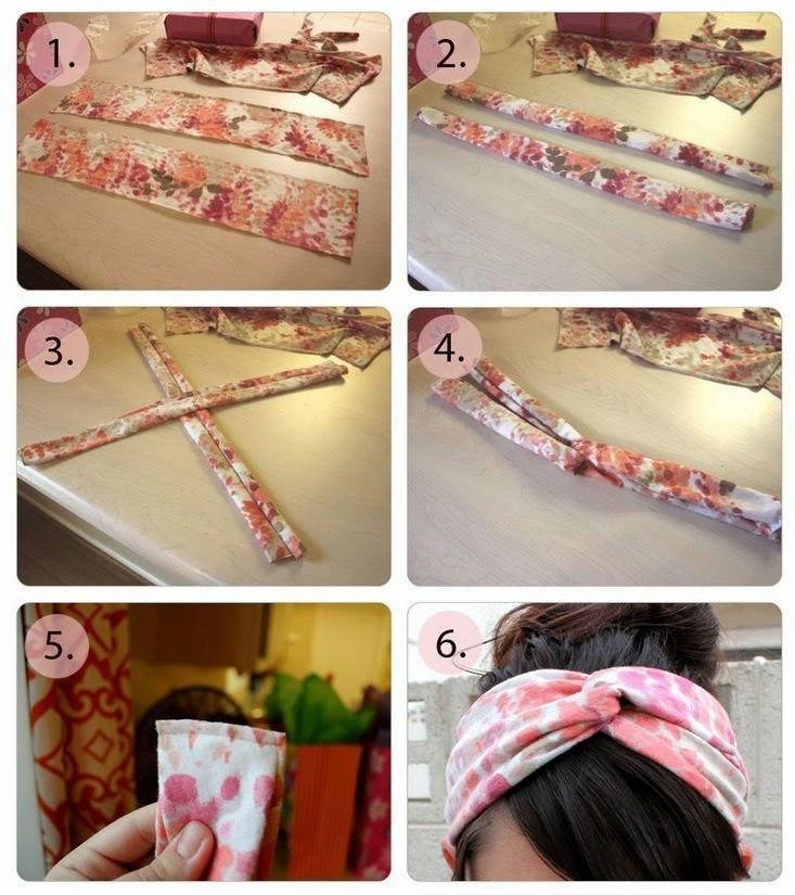 Как сшить повязку на голову и руку