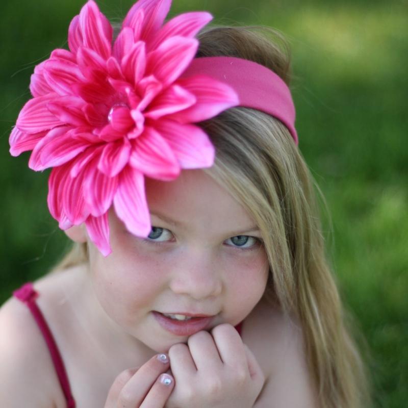 Цветок на голову своими руками для девочек
