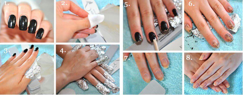 Снять гель-лак с ногтей в домашних условиях видео