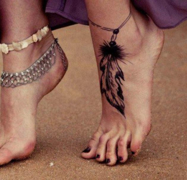 рисунки хной на ноге фото