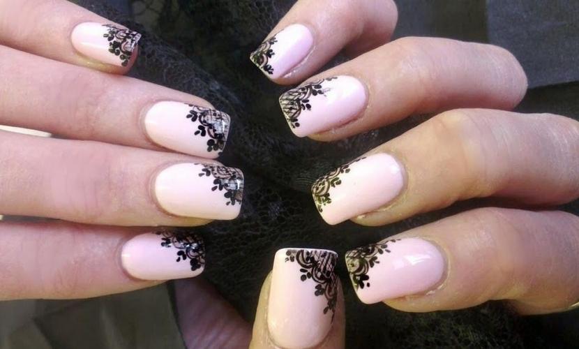 Красивые рисунки на ногтях кружево