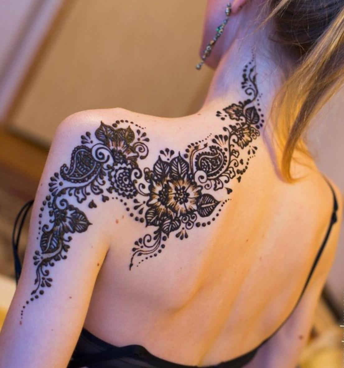 Trendy временная татуировка хной