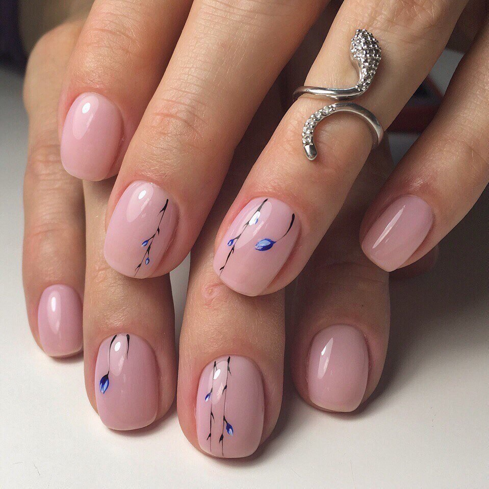 Ногти Френч С Рисунком Красивым Фото