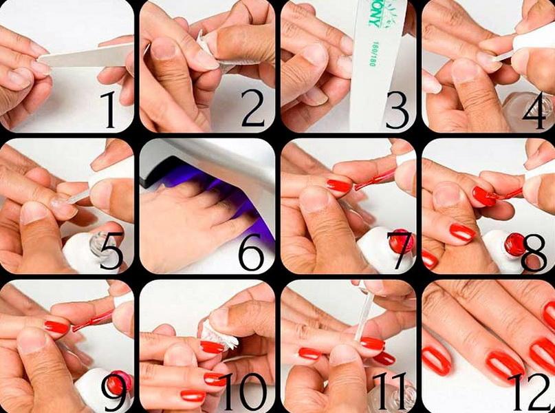 Как накрасить ногти гель лаком поэтапно