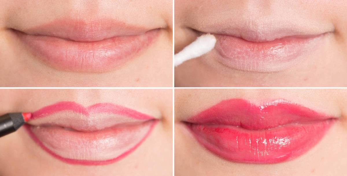 Как визуально увеличить губы без макияжа
