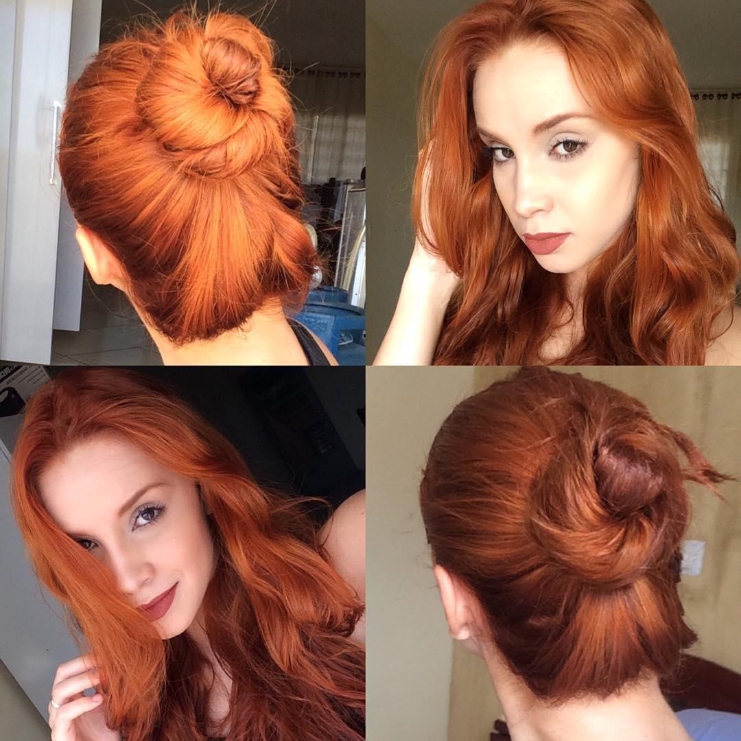 фото волос окрашенных хной