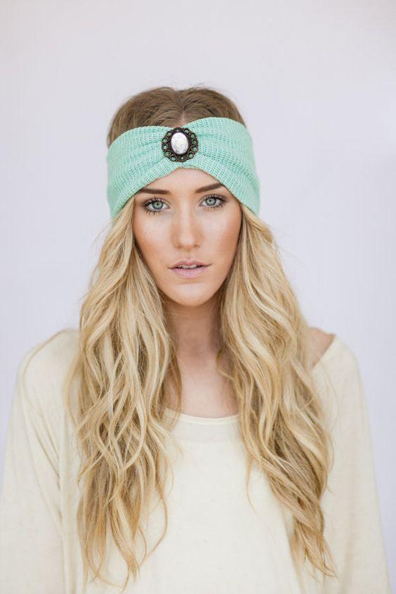 вязаная повязка на голову 57 фото модные летние варианты для