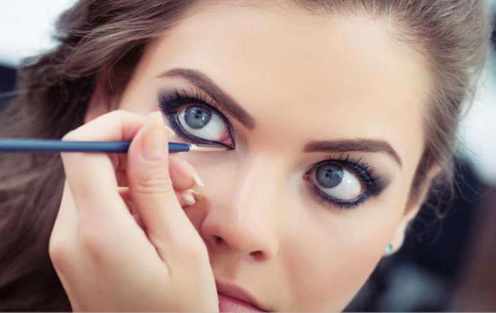 Макияж для серых и круглых глаз