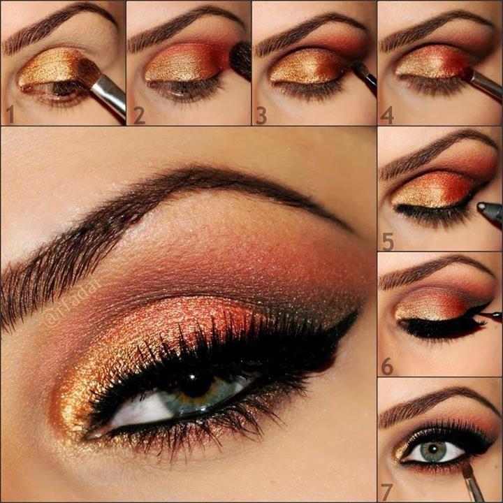Свадебный макияж для карих глаз со стрелками