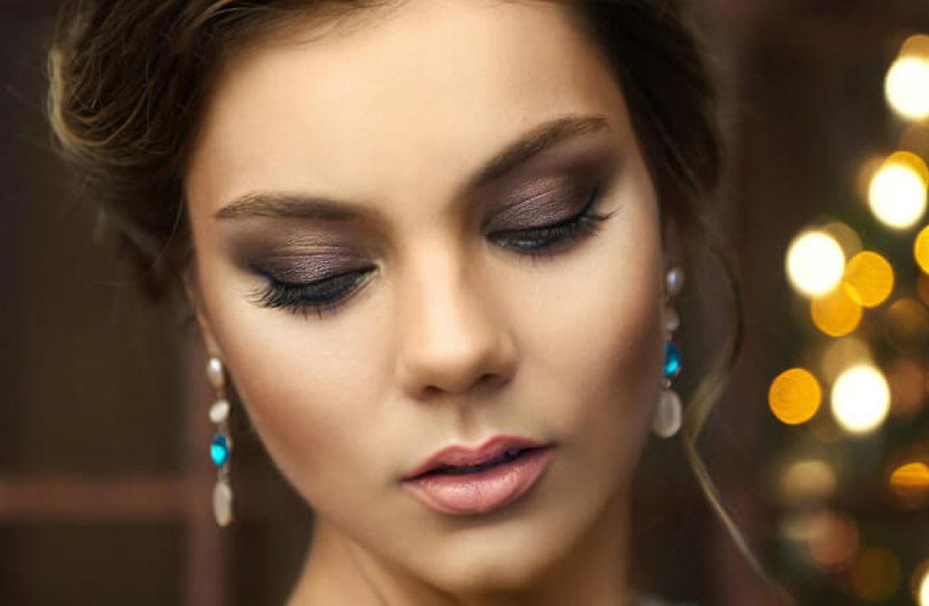 Темный макияж на свадьбу