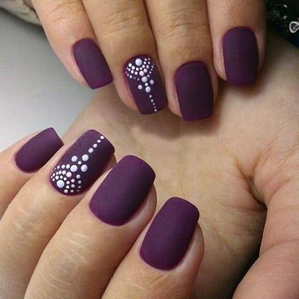 Цвет вишни спелой на ногтях фото