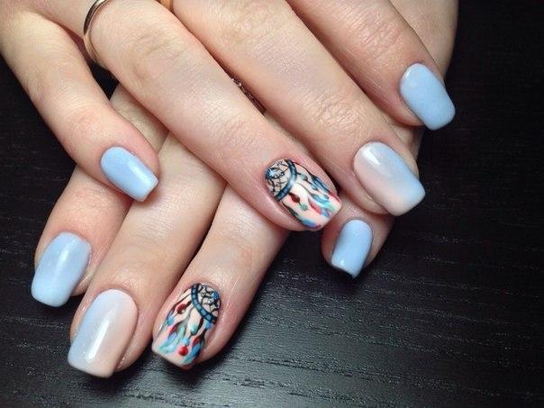 Ловец снов дизайн на ногтях