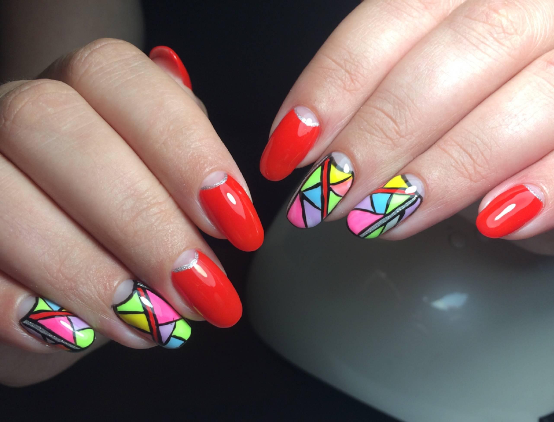 мозаика дизайн ногтей фото