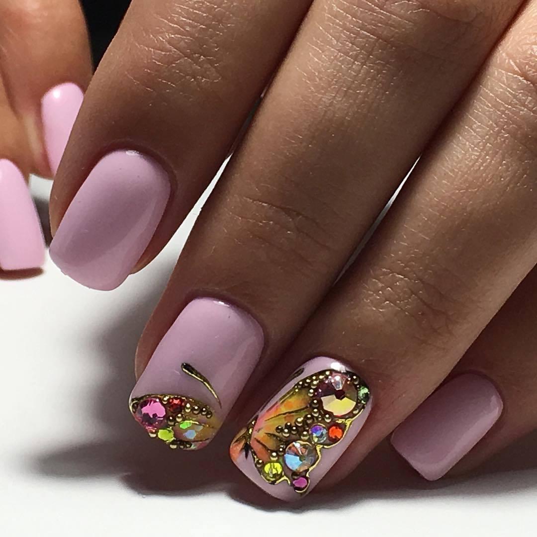 Ногти бабочки дизайн фото