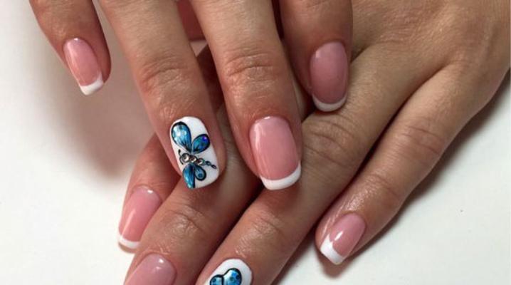 дизайн ногтей бабочки 6