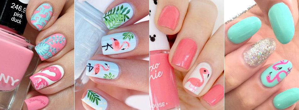 Фламинго дизайн ногтей