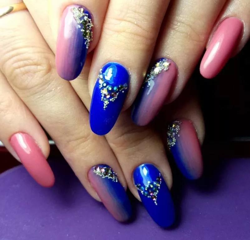 дизайн ногтей со стразами сваровски фото 5