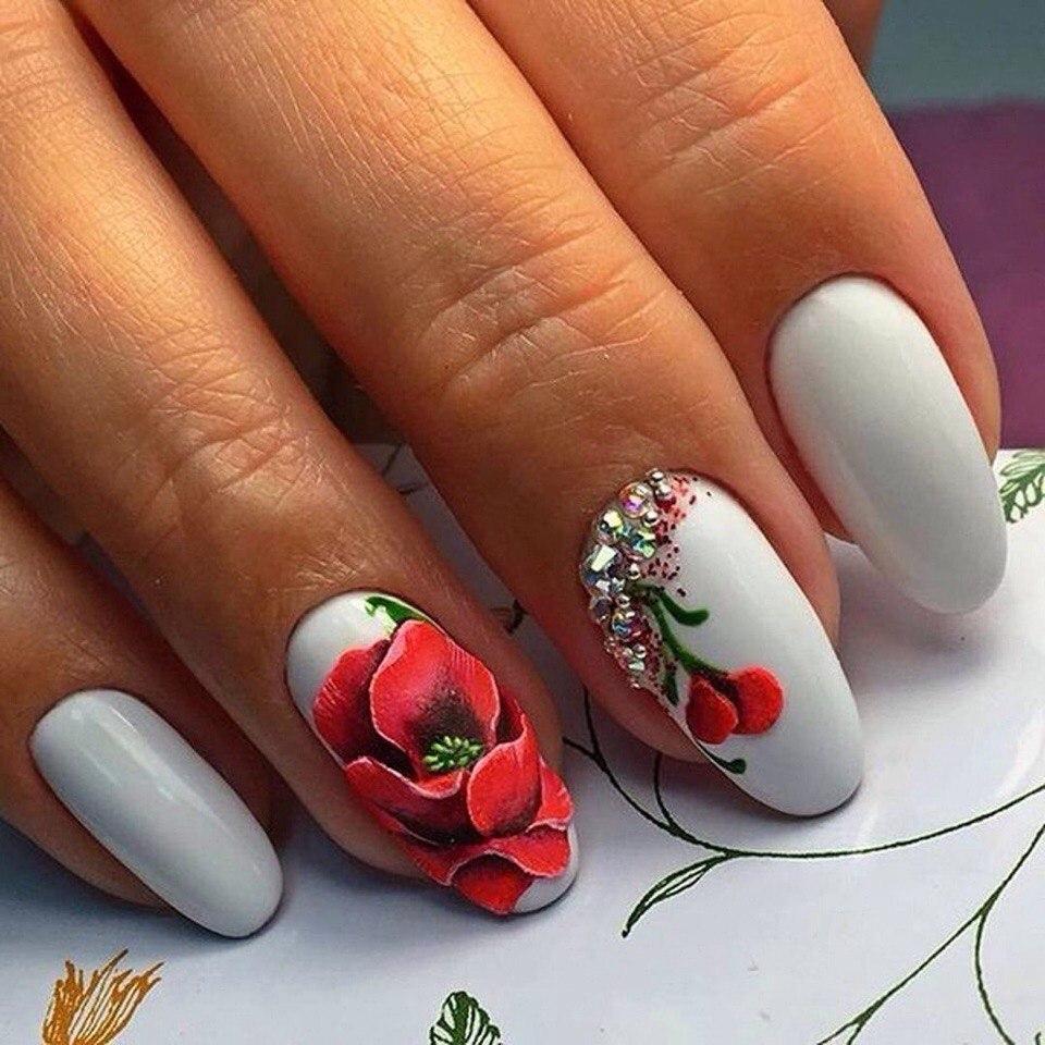 Рисунки гель лаком на ногтях весна 2017