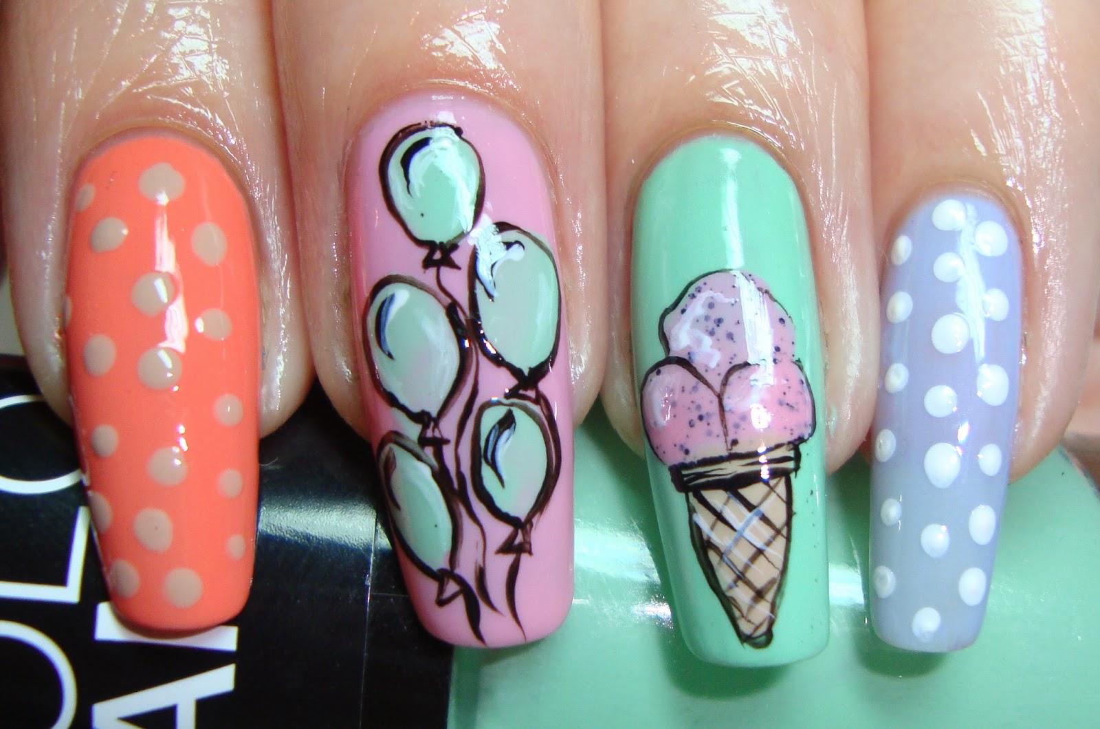 Дизайн ногтей пирожное фото