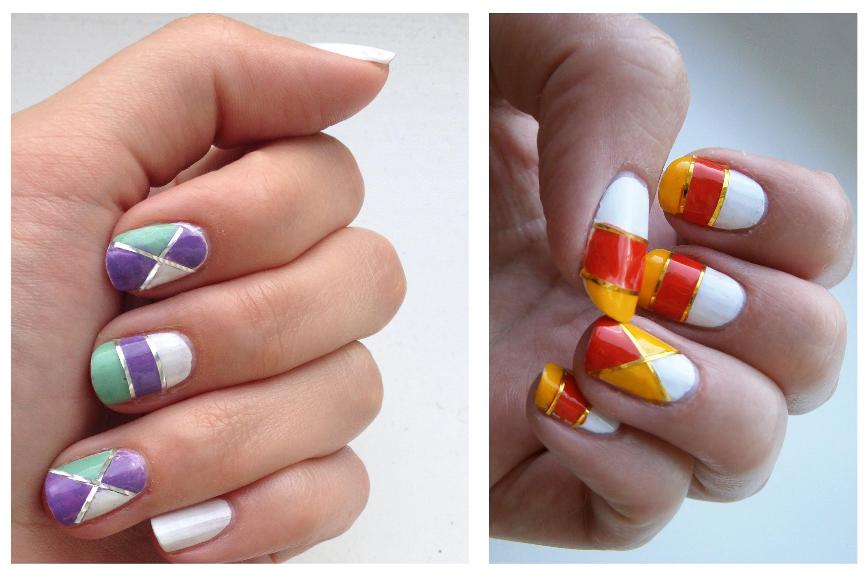 Дизайн ногтей со скотч лентой 40 фото новинок Модный 26