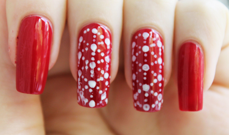 Цветы на ногтях с помощью дотса фото