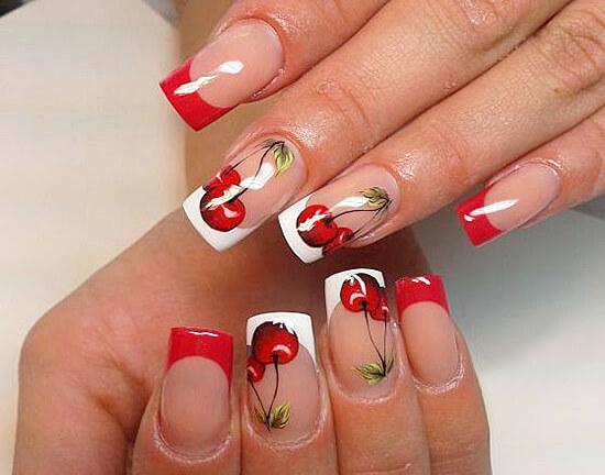 дизайн ногтей с рисунком ягод