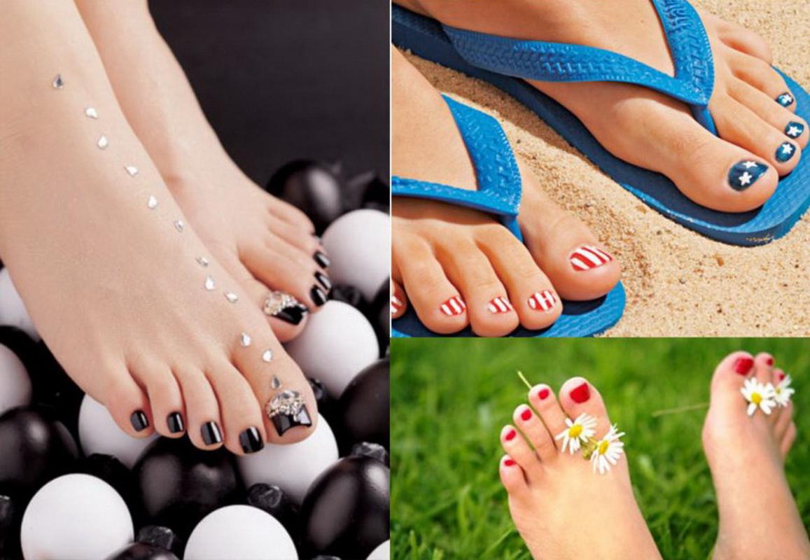 Фото как красиво накрасить ногти на ногах