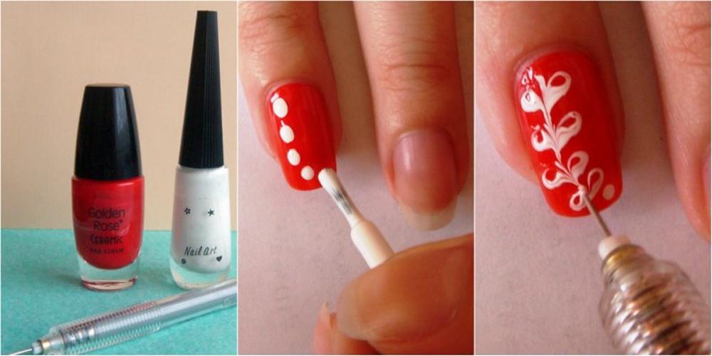 Простые узоры на ногтях для начинающих поэтапно (50 фото)