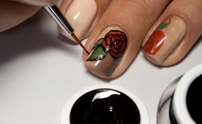 Черные Острые Ногти Дизайн Фото