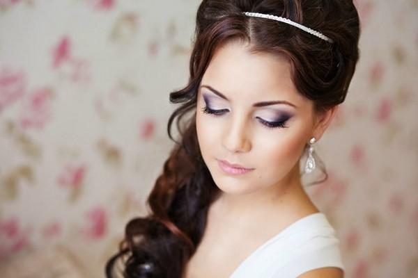 Макияж невесты для карих глаз