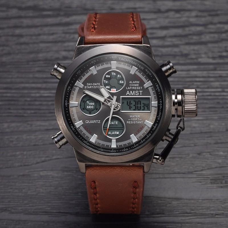 093 настоящие мужские часы ударопрочные водонепроницаемые часы amst парфюмерию, нельзя ориентироваться