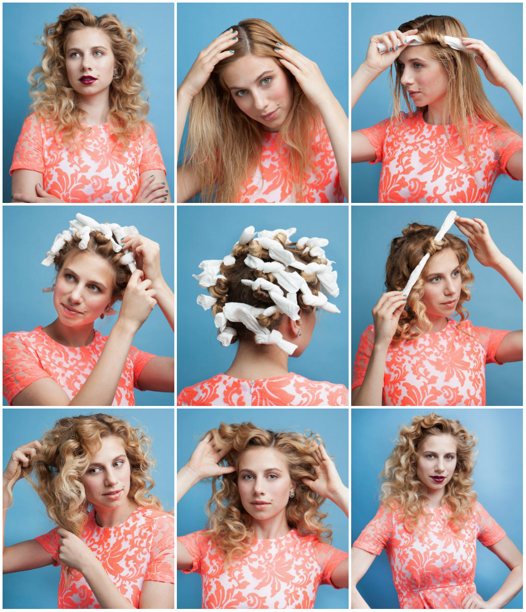 Как сделать красивые локоны на длинные волосы при помощи бигуди