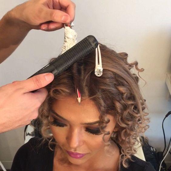 Как сделать красивую завивку на коротких волосах