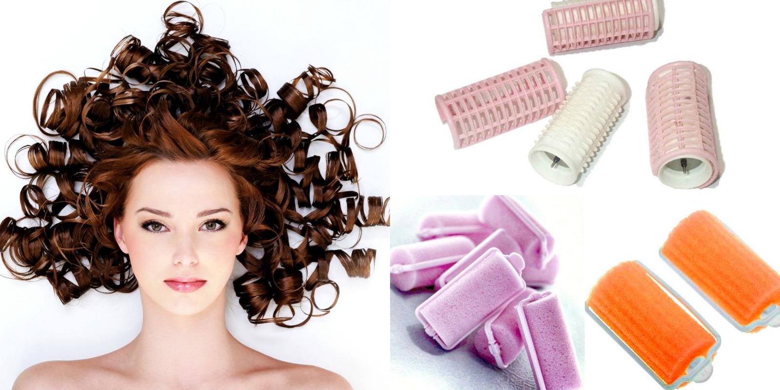Укладка волос на бигуди пошагово фото