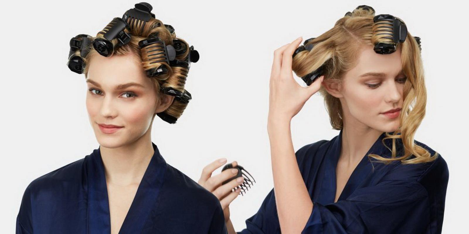 Причёски на бигуди средние волосы