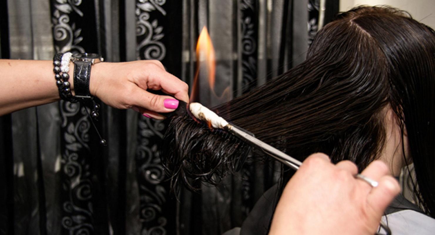 Горячая стрижка волос в домашних условиях