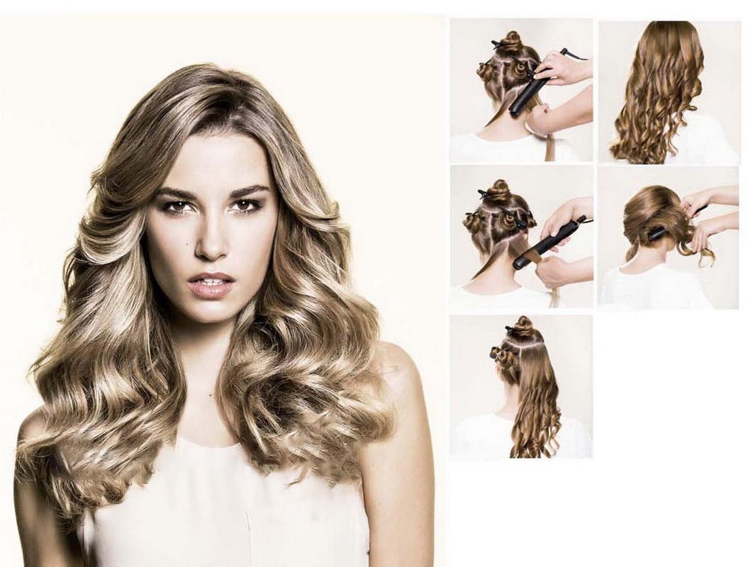 Как сделать волосы локонами 209