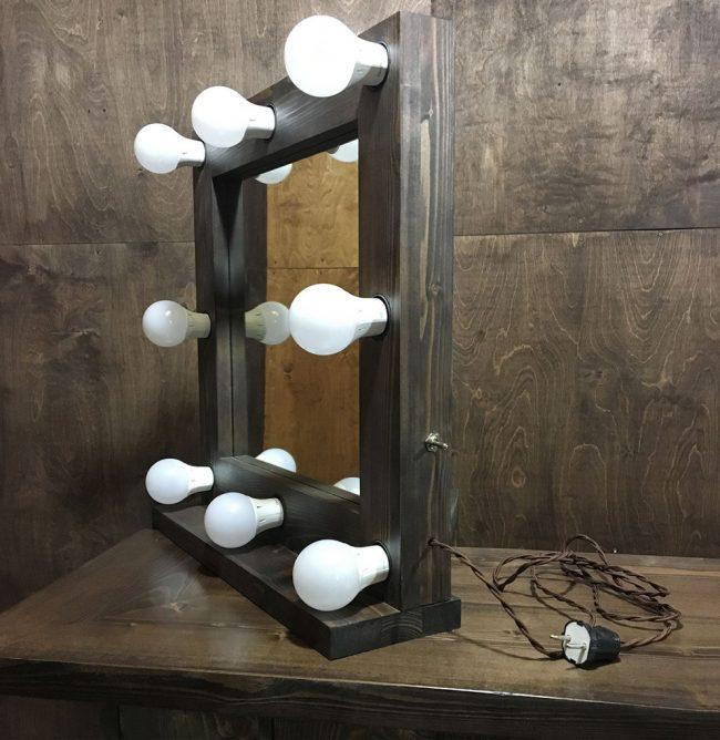 Зеркало с лампочками своими руками 60