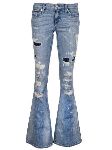 Рваные джинсы клеш