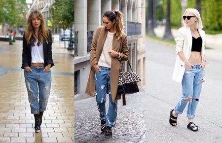 Джинсы с дырками (60 фото): с чем носить дырявые джинсы, черные, модели