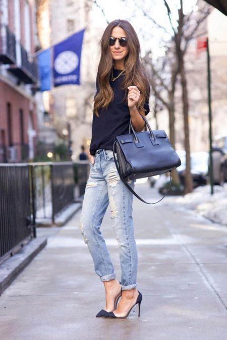 Летние джинсы для женщин (64 фото): с чем носить, тонкие и рваные, модели, модные луки и образы 2018