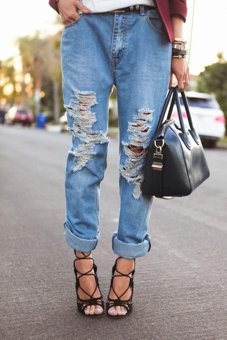 Как сделать подвороты на джинсах девушке если они широкие 347